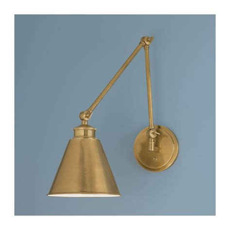 norwell lighting norwell lighting 8475 ag ms aged brass with metal shade 1 light wall sconce from the aiden