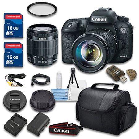 canon eos 7d mark ii digital slr camera + 18 55mm f/3.5 5.6