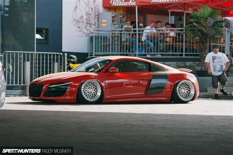 super lowered cars lowered r8 nothing quite like scraping asphalt in your