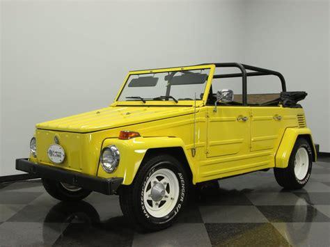volkswagen thing yellow yellow 1973 volkswagen thing for sale mcg marketplace