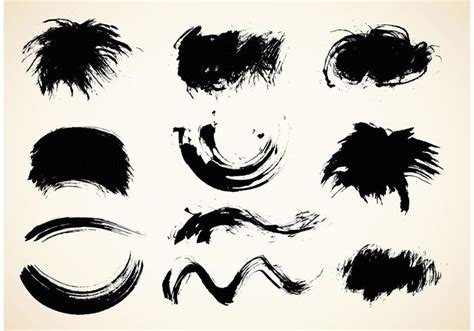 oriental pattern brush photoshop free chinese calligraphy brush vector pack download free