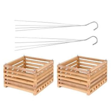 bett gro better gro 10 in wooden square hanging baskets 2 pack