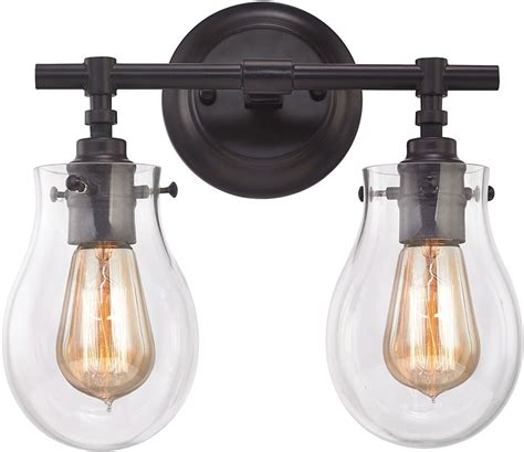 oil rubbed bronze bathroom light fixture elk 31931 2 jaelyn contemporary oil rubbed bronze 2 light