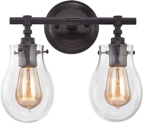 oil rubbed bronze bathroom light fixtures elk 31931 2 jaelyn contemporary oil rubbed bronze 2 light