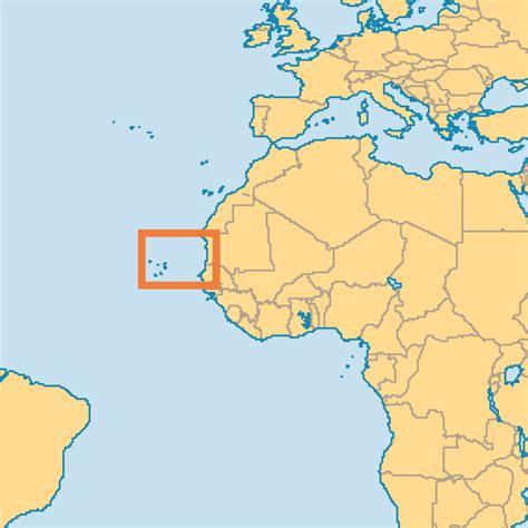 cape verde islands map cape verde islands operation world