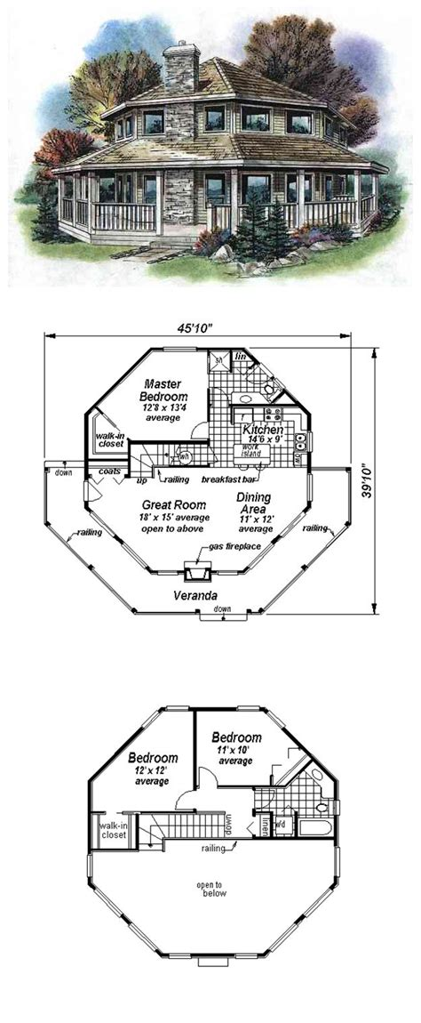 octagon house plans 16 best octagon style house plans images on pinterest
