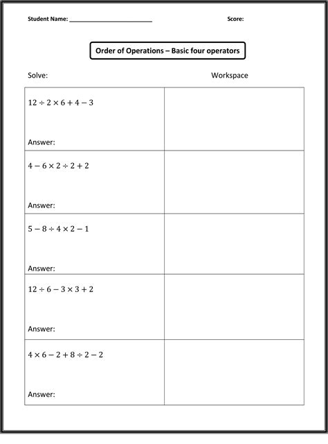 Free Algebra Lessons And Worksheets by Free Math Worksheets Activity Shelter