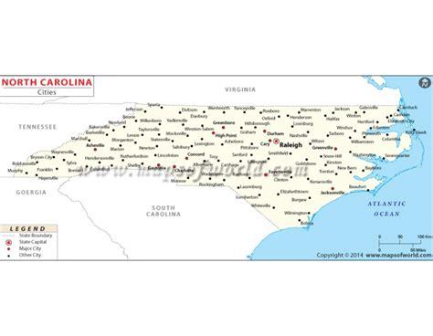 map of cities in carolina buy map of carolina cities