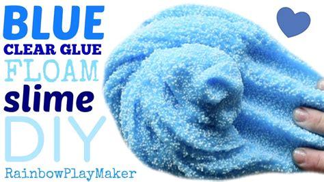 tutorial slime clear diy clear glue floam slime tutorial super easy fun
