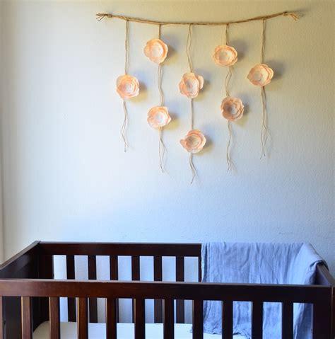 Nursery Hanging Decor Boho Paper Flower Wall Hanging Nursery Wall By Sophiaandroseco