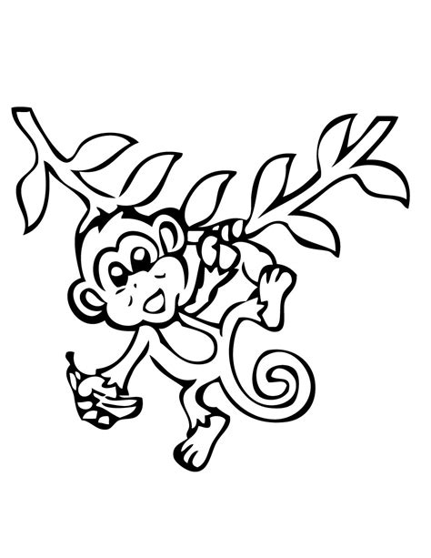 monkey coloring pages for toddlers monkey printable coloring pages