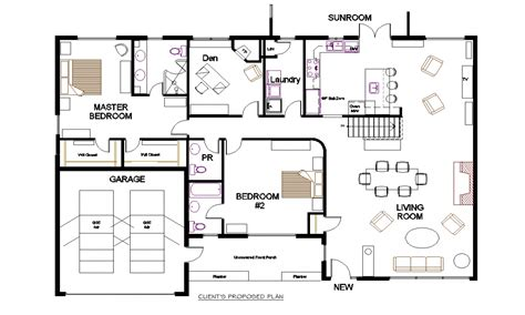 plan floor bungalow open concept floor plans small open concept