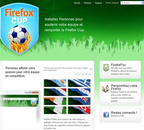 themes complets pour firefox des th 232 mes firefox et google chrome sp 233 cial coupe du monde