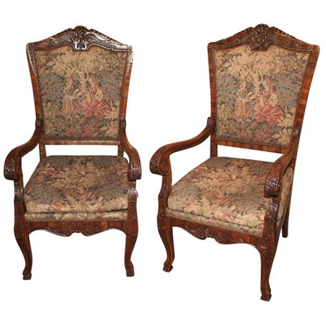 antique armchairs for sale carved and inlaid fruitwood armchairs for sale antiques