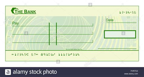 A Blank Cheque Check Template Illustration Stock Photo 97011714 Alamy Blank Cheque Template Free