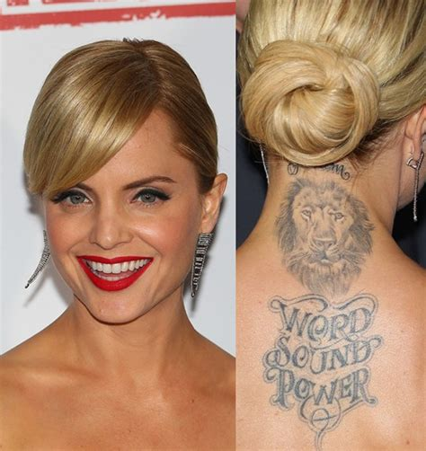 mena suvari s tattoos animal tattoo on upper back