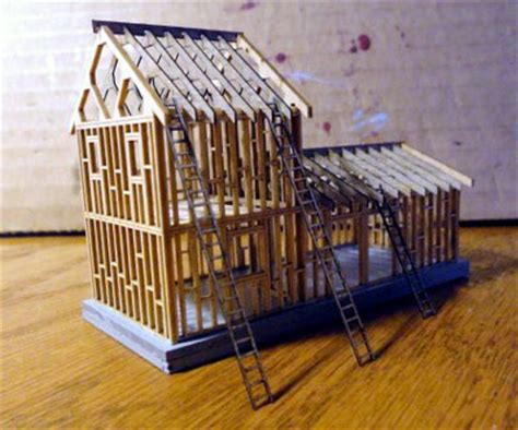 n scale laser cut a frame house kit ebay how to build a northeastern scale models house under