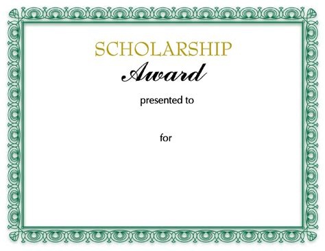 Scholarship Award Letter Pdf The Scholarship Award Certificate Can Help You Make A Professional And Document