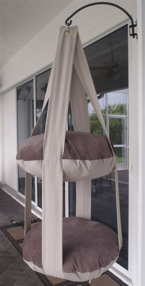 hanging cat bed cat bed neutral earth tones hanging cat bed double kitty cloud