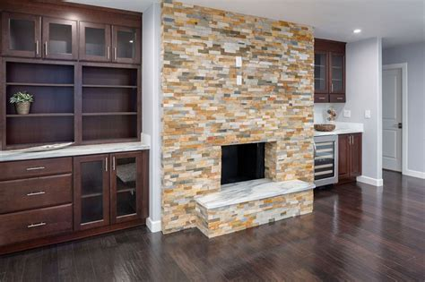 fireplace surround cabinets fireplace surround featuring cherry russet cabinets