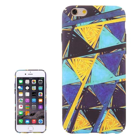 for iphone 6 6s water decals color triangle design pattern pc protective alex nld
