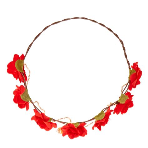 Flower Hair Cl flowers and golden chain hair flower crown s us