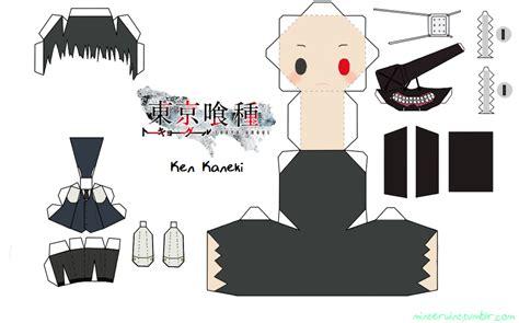 Anime Papercraft Pattern - template tokyo ghoul kaneki by verloria on deviantart