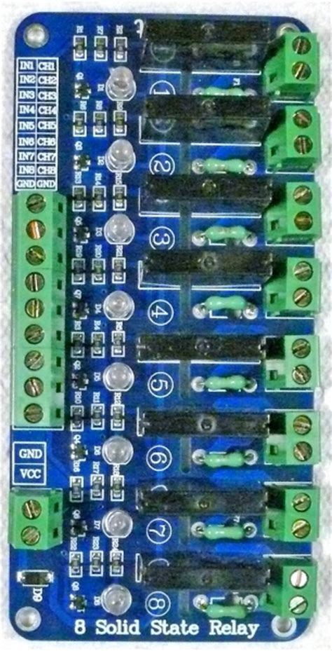 channel  amp solid state relay board