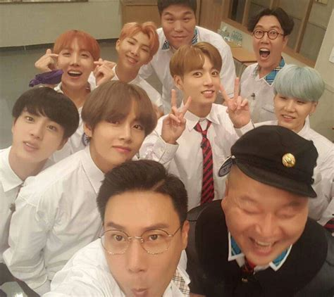 bts knowing brother lee sang min yupdate in instgram with bts in show knowing