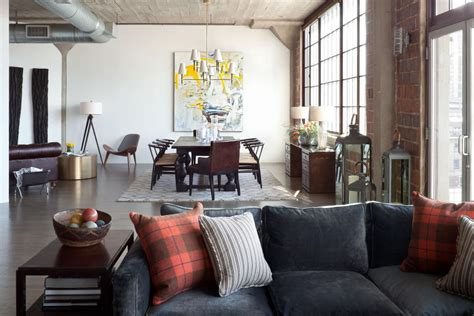 bachelor pad mixes industrial elements modern style