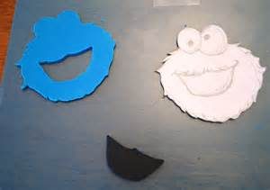 cookie monster cut out template www imgkid com the