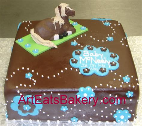 Baby Shower Square Cakes by Custom Square Chocolate Fondant Sculpture Baby