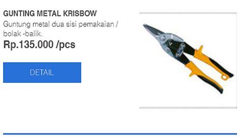 Harga Gunting Tanaman Krisbow by Daftar Harga Peralatan Baja Ringan Atc Menjual Baja