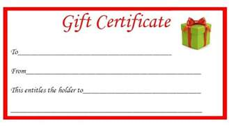 Gift Certificate Template Free Printable by Free Printable Gift Certificates The Diary