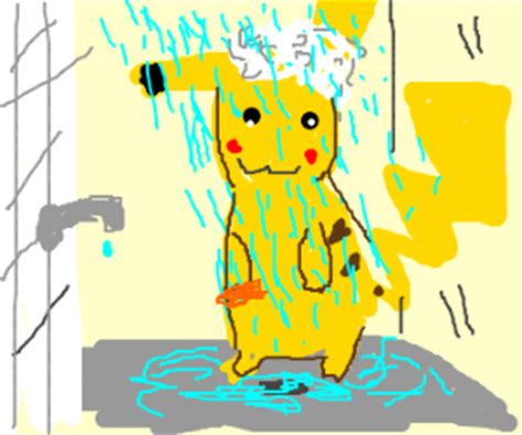 Pikachu Shower by The Cutest In The World