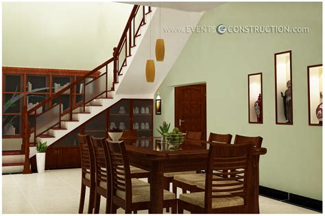 evens construction pvt  dining area designed  staircase