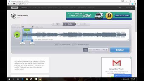 cortar un audio como cortar un audio mp3 o canci 243 n programas 2015