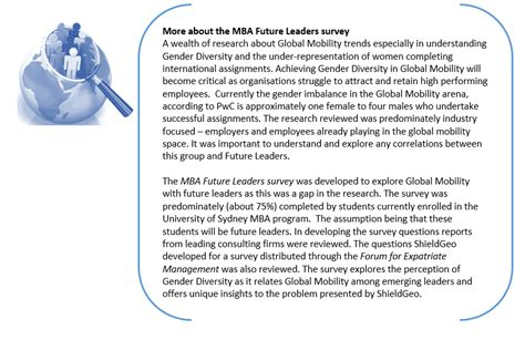 Mba Future Leaders Program by Gender And Global Mobility Future Leaders Survey Results