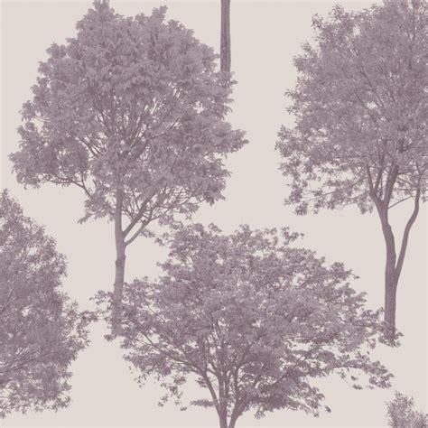wallpaper tree design uk fine decor woodland trees wallpaper natural heather plum