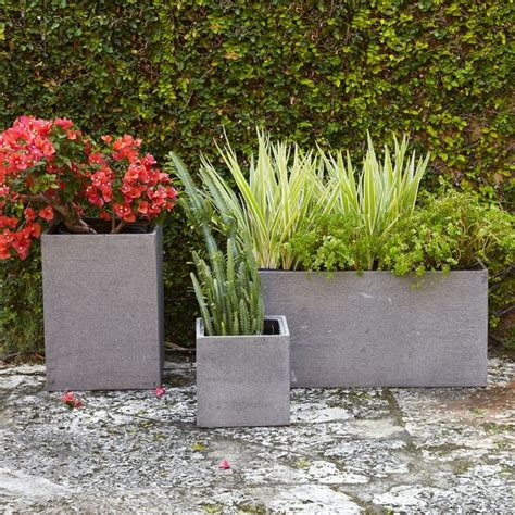pots and planters cityscape planters modern outdoor pots and planters