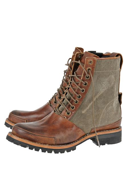 mens 8 inch boots timberland tackhead winter 8 inch boot in brown for lyst