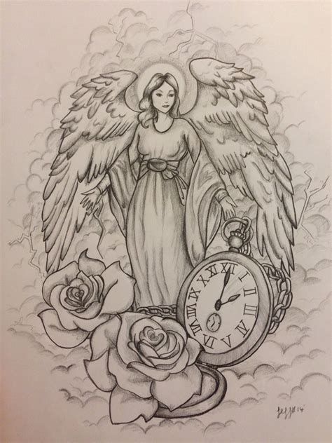 tattoo designs of angels guardian design commission by jeffica