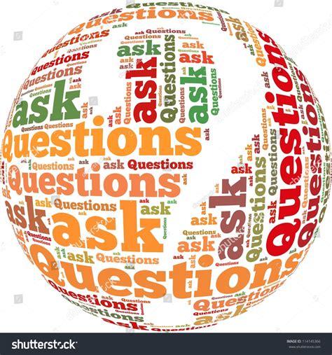 the official word of askcom question ask infotext graphics arrangement concept stock