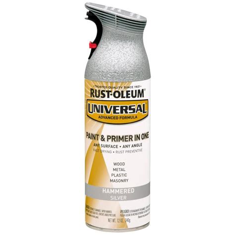 spray paint plastic silver rust oleum automotive 12 oz universal silver paint for