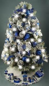 decorated mini tabletop christmas tree snowflakes winter