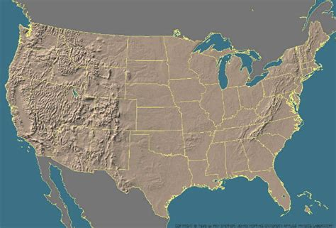 map of united states landforms blank map of us landforms