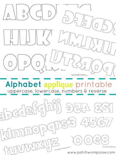 applique letters template alphabet applique templates printable