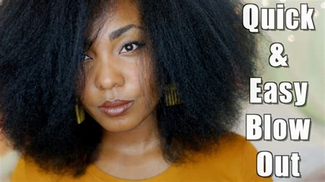 quick amp easy blow out on natural hair youtube