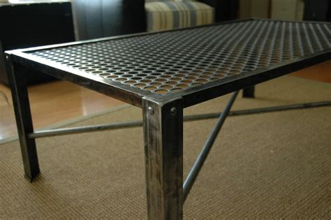 Steel Coffee Table Industrial Metal Coffee Table Mid Century Modern Design