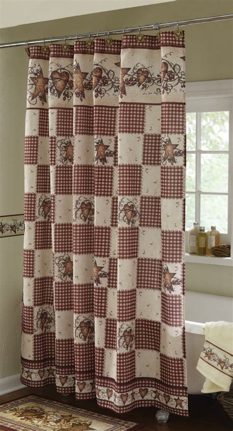 country style shower curtain country curtain sets pictures to pin on pinterest pinsdaddy